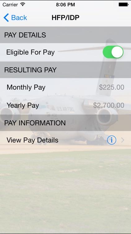 Military Pay Calc screenshot-3