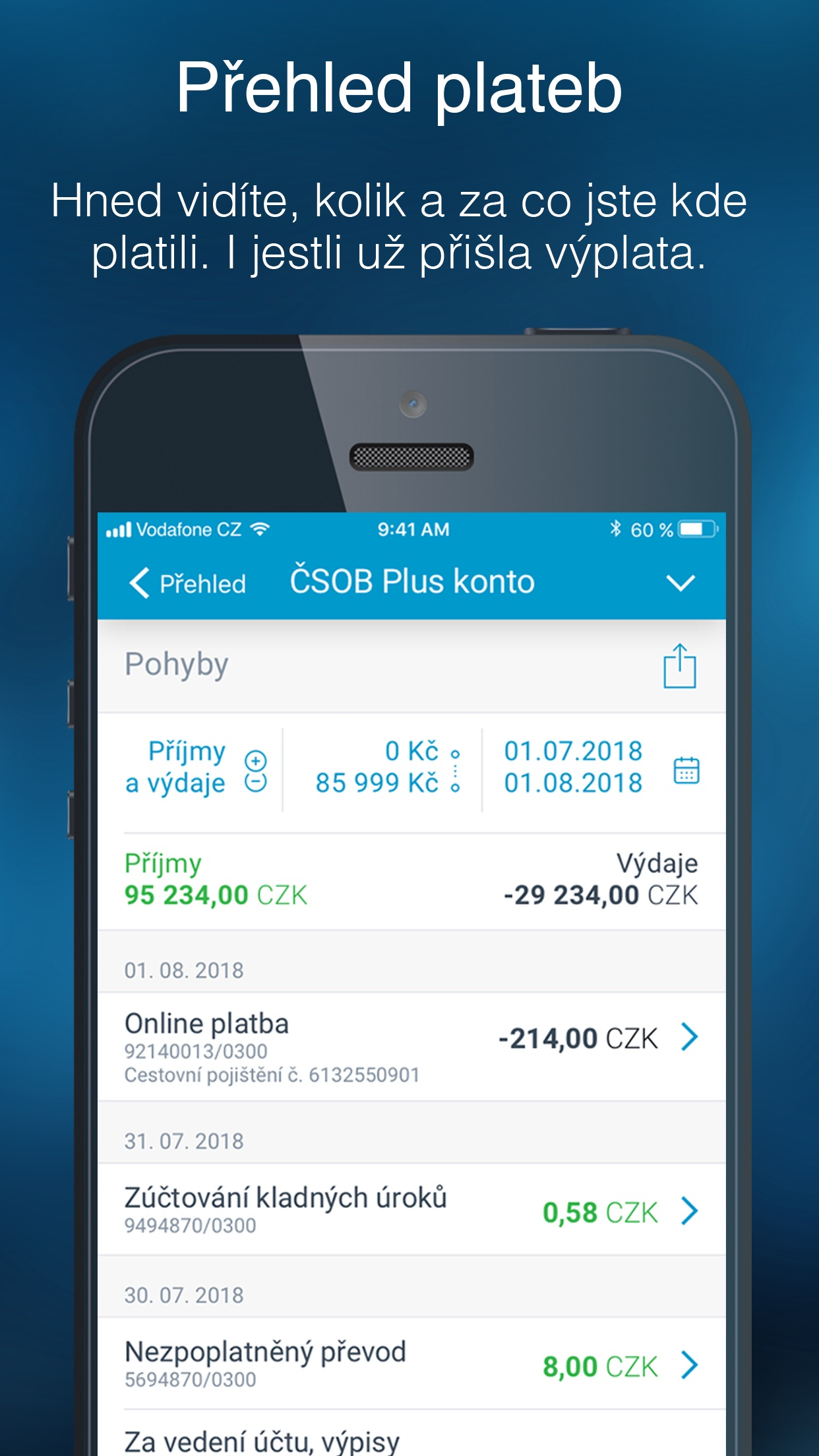 ČSOB Smartbanking Screenshot