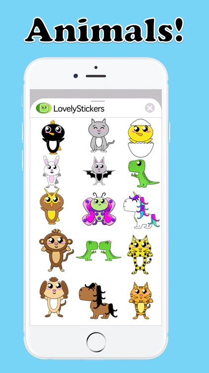 Lovely Stickers for iMessage! screenshot-5