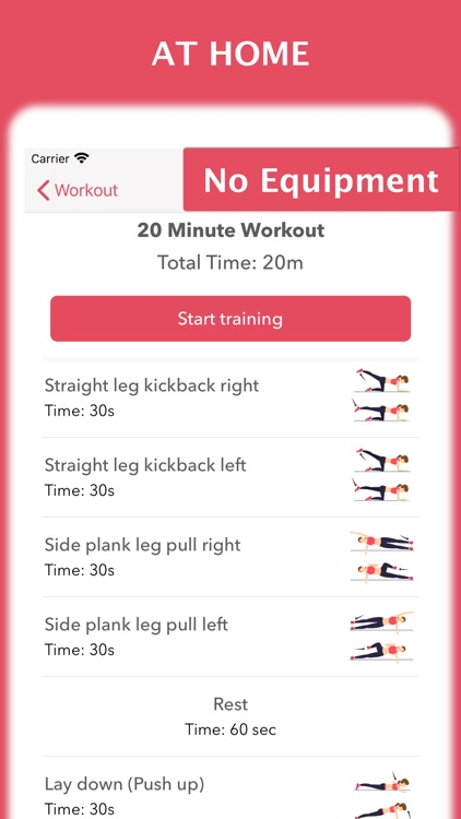 Workout for women at home screenshot-3