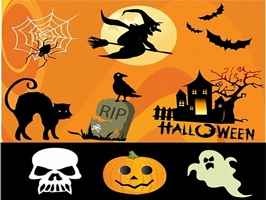 The HalloweenDT is a small sticker, which are show the 30 Halloween DT sticker in cartoon