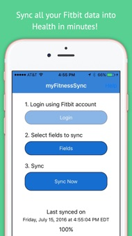 Fitbit to Apple Health Sync iphone images