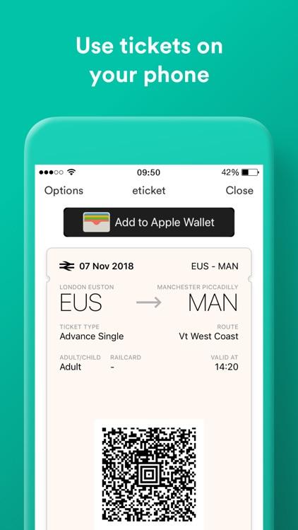 Trainline: Train and Bus App screenshot-4