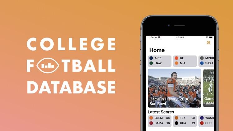 College Football Database screenshot-0
