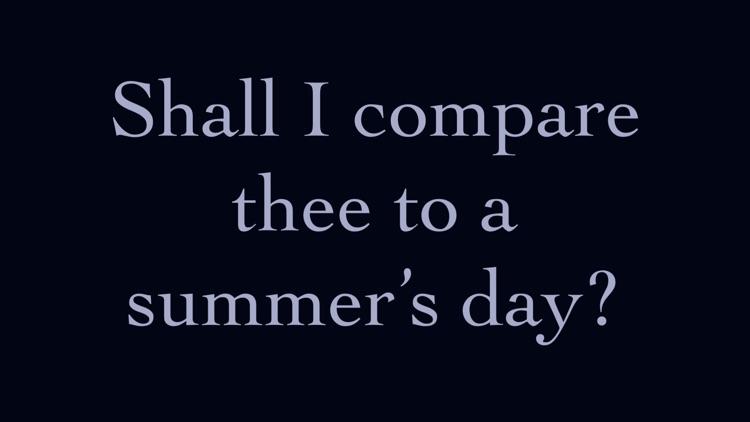 Shakespeare's Sonnets: screenshot-0