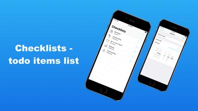Checklists - todo items list screenshot 1