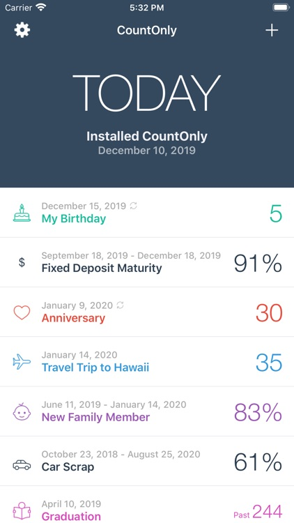 CountOnly - Countdown Days App