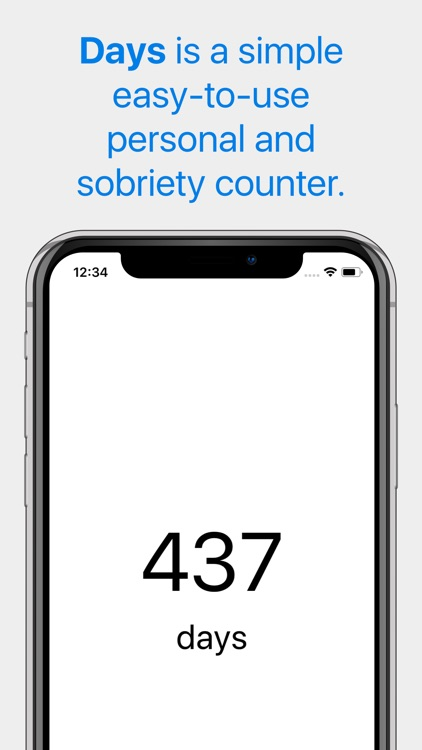 Days - Sobriety Counter