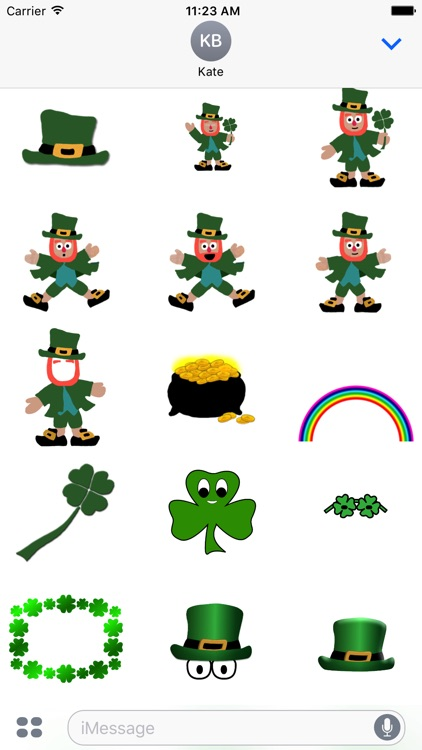 5 Little Leprechauns Stickers