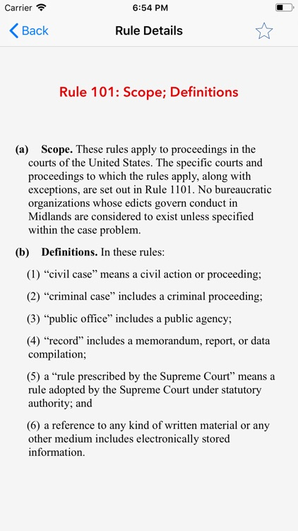 Mock Trial Rules of Evidence