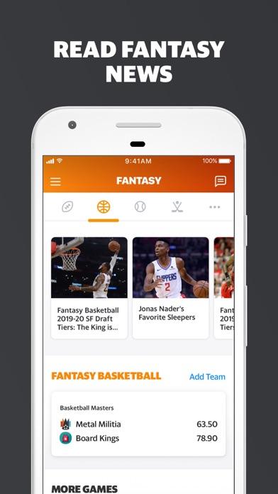Screenshot for Yahoo Fantasy Football & more in Canada App Store