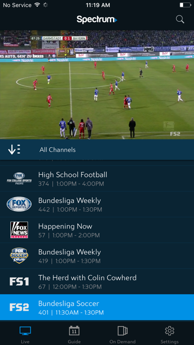 Spectrum TV by Charter Communications (iOS, United States