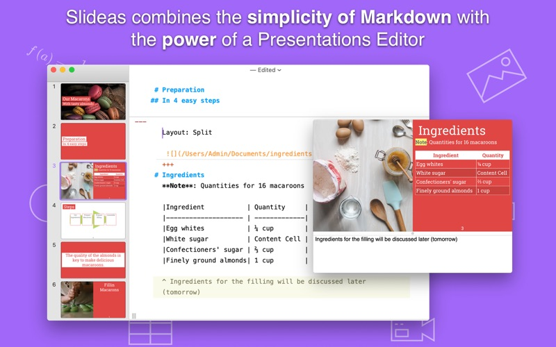 Slideas- Markdown Presentation скриншот программы 1