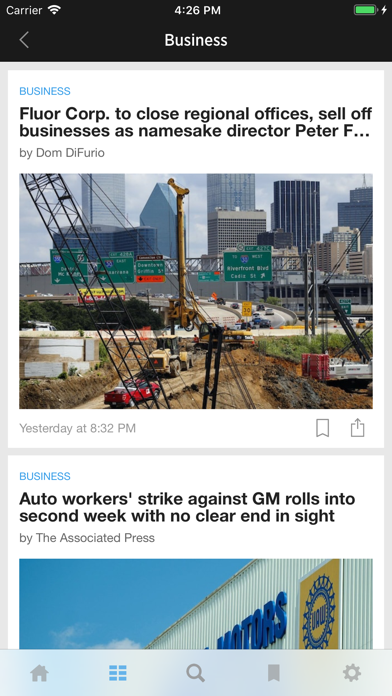 The Dallas Morning News App Screenshot