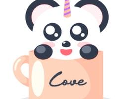 Unicorn Panda Stickers