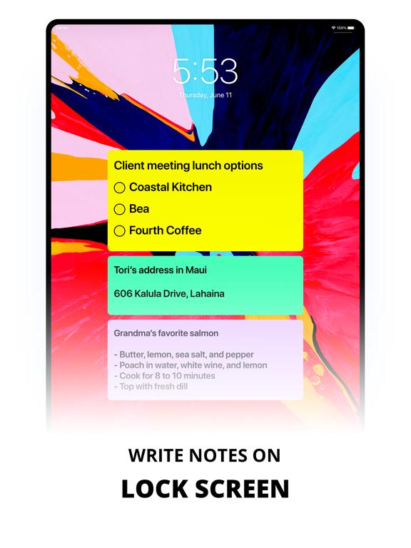 Sticky Notes. Screenshots