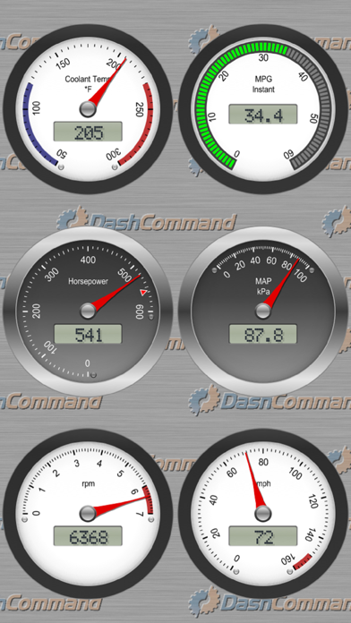 Скриншот №2 к DashCommand - OBD-II Gauges
