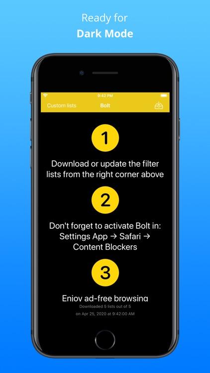 Bolt — Adblock for Safari
