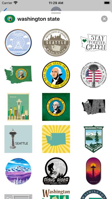 Washington state - USA emoji screenshot 1