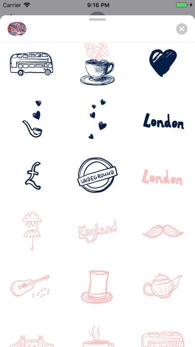 Love London Doodle Stickerpack screenshot 3