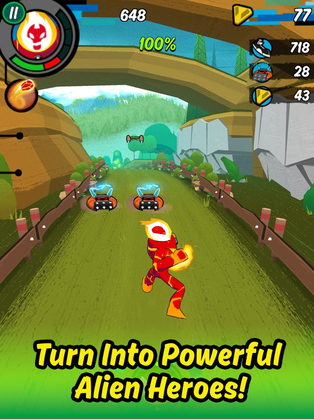 Ben 10: Up to Speed, game for IOS