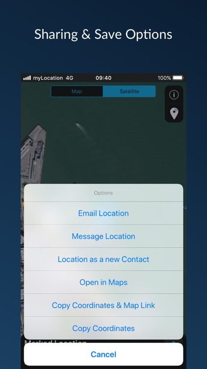 myLocation - Share Coordinates screenshot-3