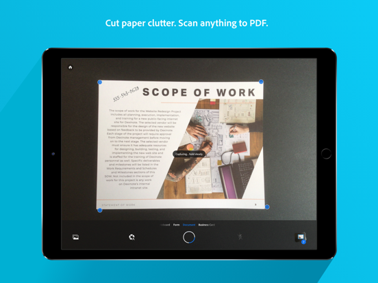 Adobe Scan Digital PDF Scanner screenshot
