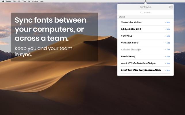 Font Sync