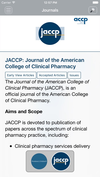 Official Journals of ACCP