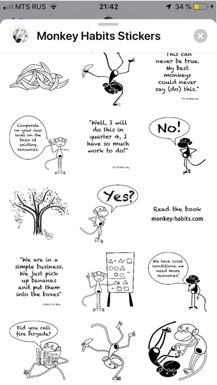 Monkey Habits Stickers