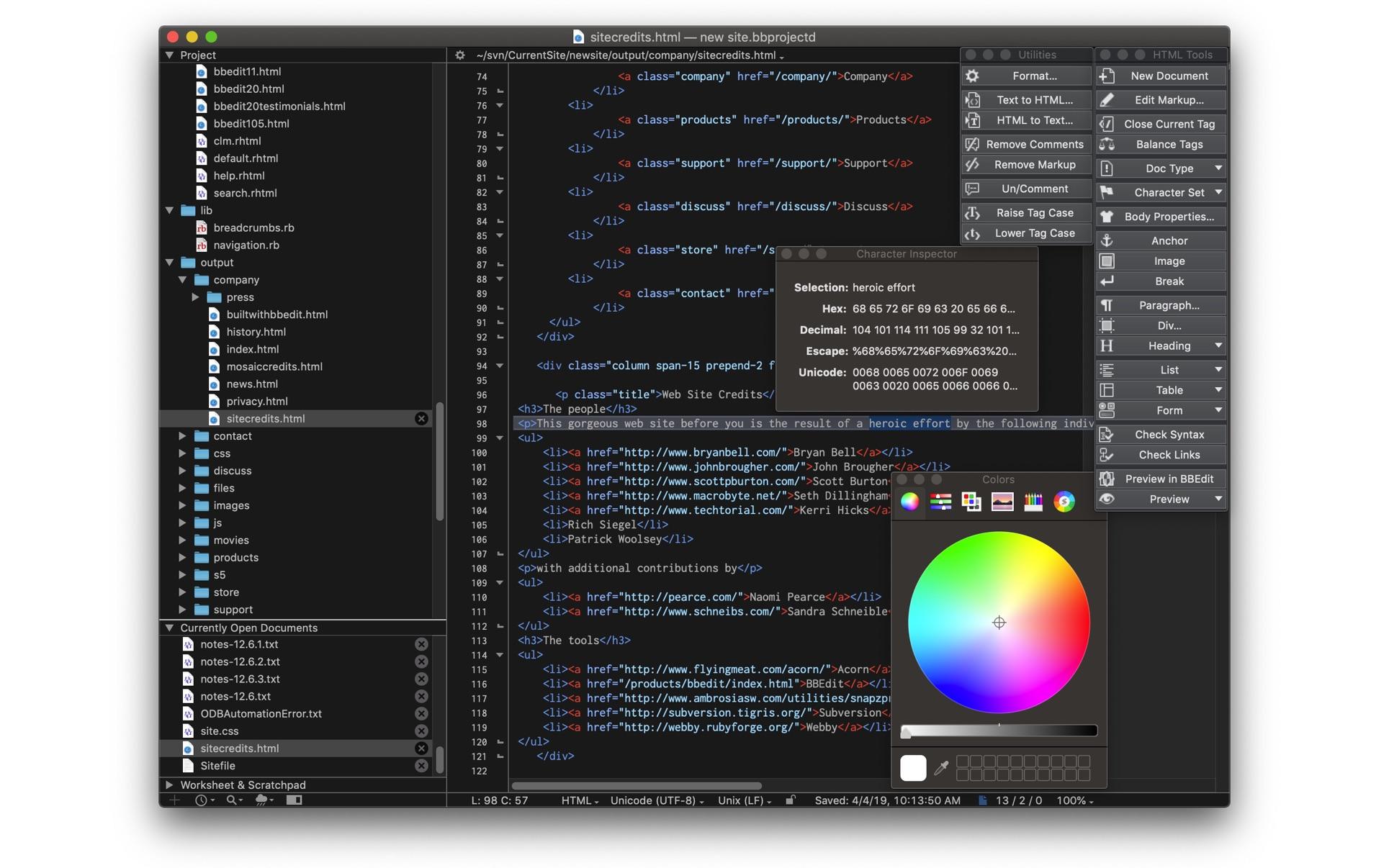 BBEdit 13.5.5 Mac 破解版 强大专业的HTML文本代码编辑器-麦氪搜(iMacso.com)