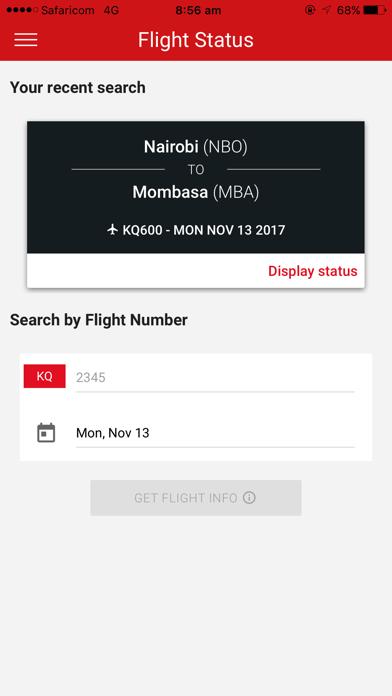 Kenya Airways screenshot three