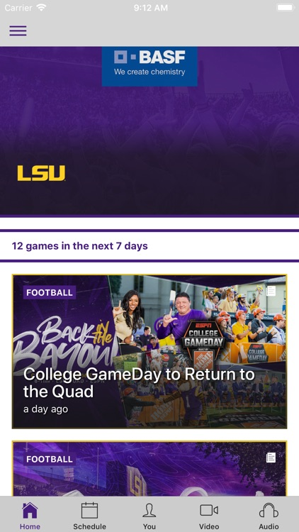 LSU Sports Mobile screenshot-0