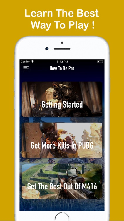 Pro PUBG Guide: MOBILE-PC-PS4 screenshot-3