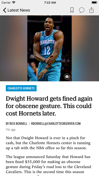 The Charlotte Observer News Screenshot