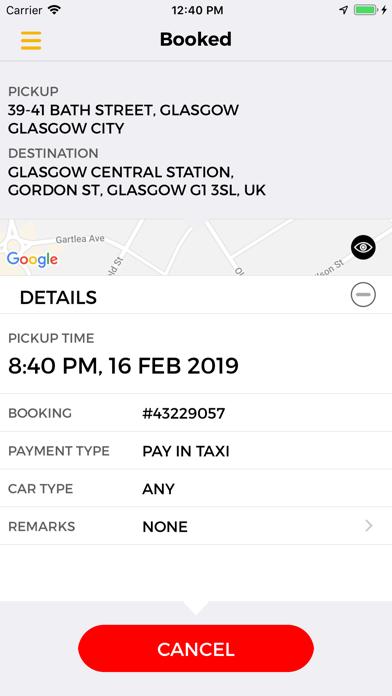 Glasgow Taxis screenshot four