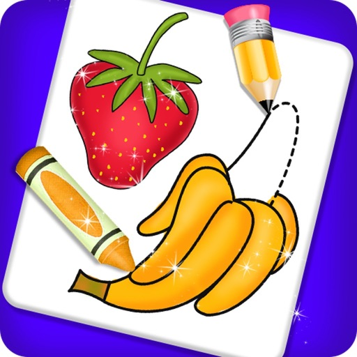 Fruits and Vegetable Coloring