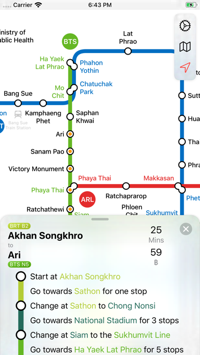 Screenshot #3 pour Bangkok Metro Transit Map