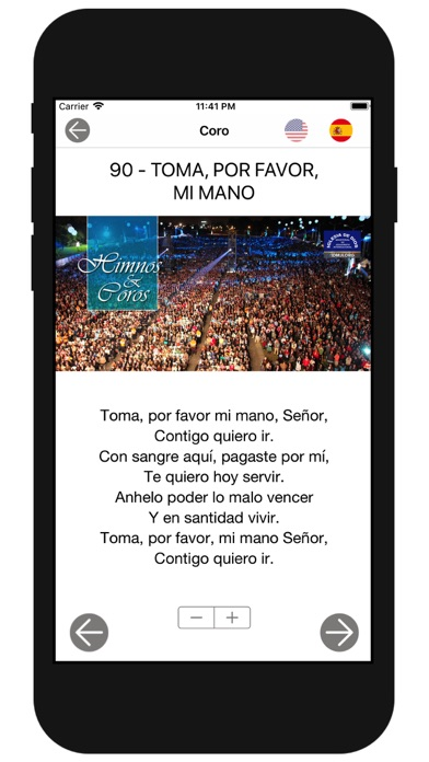 Screenshot for Himnos y Coros IDMJI in Denmark App Store