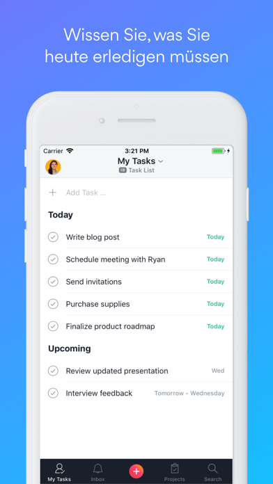 Screenshot for Asana: Aufgaben organisieren in Switzerland App Store