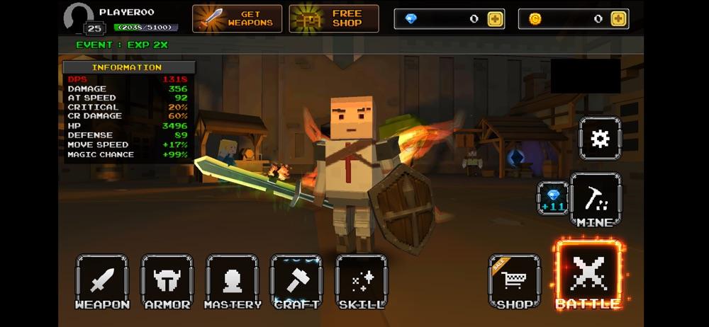 Pixel Blade – 3D Action Rpg
