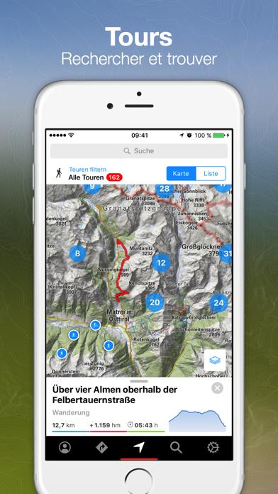 Screenshot #1 pour Tours Bergfex et suivi GPS