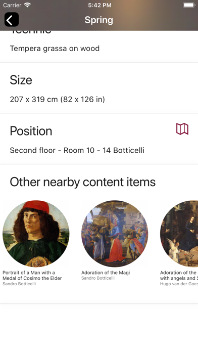 Screenshot of Uffizi Gallery6