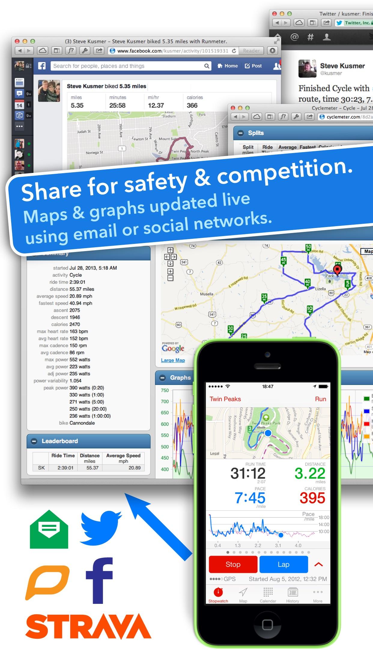 Runmeter Running & Cycling GPS Screenshot