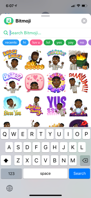 ‎Bitmoji Screenshot