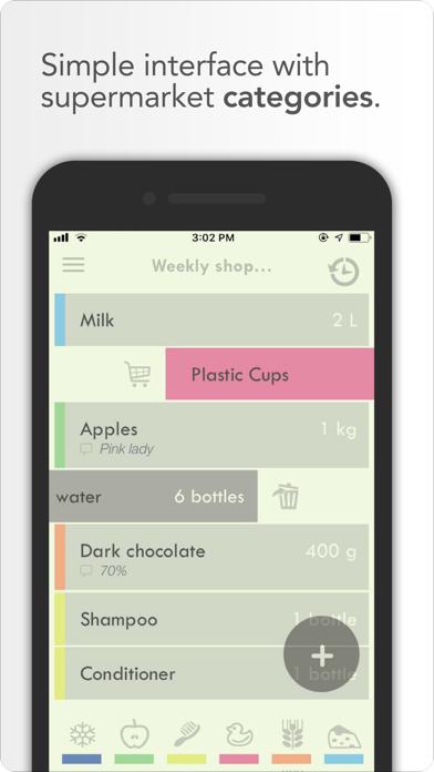 überliste - shopping list screenshot one