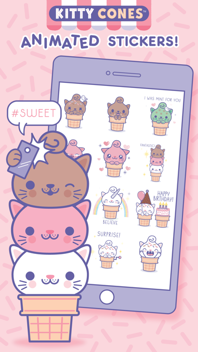 Kitty Cones Animated Stickers app image