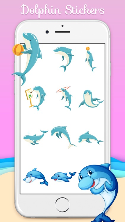 Ocean Dolphin Stickers screenshot-1