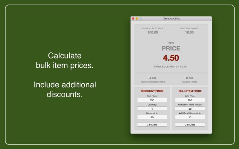 Discount Calcz for Mac