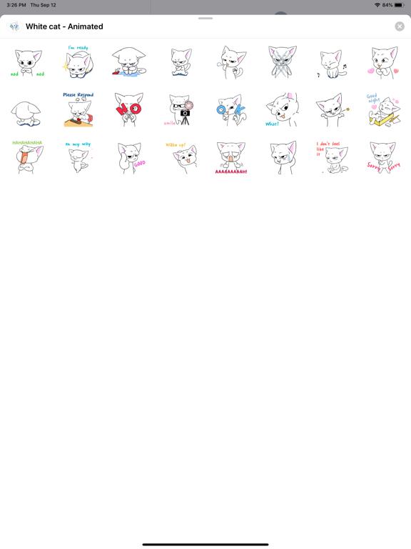 White cat - Animated screenshot 3
